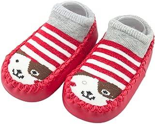 Bold N Elegant Baby Girl Boy Colorful Shoe Socks with Rubber Sole Infant Newborn Kids Floor Socks Shoes Anti Slip Bootie Moccasins