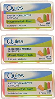Protection Auditive en Mousse - pack de 3 paires - lot of 3 (9 paires), Couleurs Assortis