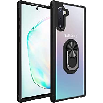 Amuoc Compatible with Samsung Galaxy Note 10 Case, [ Military Grade ] 15ft. Drop Tested Protective Kickstand Case -Black