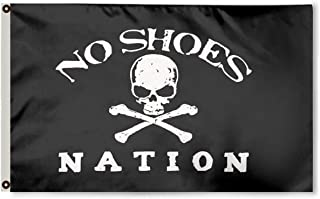 FayLagee-yx No Shoes Flag 3x5 -Polyester Flag Brass Grommets, Black