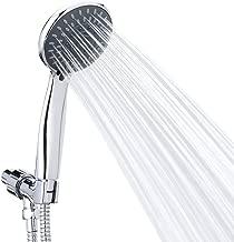 Handheld Shower Head High Pressure 5 Spray Settings Massage Spa Detachable Hand Held Showerhead Chrome Face with Hose and Adjustable Bracket