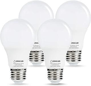 L LOHAS LED Dusk to Dawn Light Bulb, 6W(40W Equivalent) LED Outdoor Sensor Light Bulbs,..