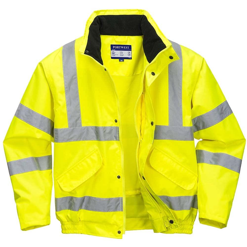 Portwest Workwear Mens Class3 Breathable Bomber Yellow Medium