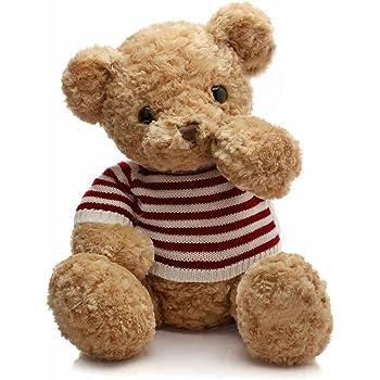 IKASA ぬいぐるみ 特大 くま テディベア 可愛い熊 動物 大きい くまぬいぐるみ 熊縫い包み クマ 抱き枕 お祝い ふわふわ  お人形 女の子 男の子 子供 女性 抱き枕 プレゼント ビッグサイズ (ブラウン, 55cm)