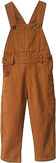 Grandwish Boys' Brown Bib Overall Size 3T-10