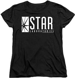 Popfunk Women's Flash Star Labs Superhero S.T.A.R. Laboratories T Shirt & Stickers