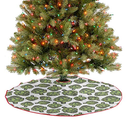 Tree Mat Detailed Drawing of Super Foods Fresh Vitamin Sources Natural Nutrition Source New Year Party Supply Covers A Large Amount of Space Under The Tree Forest Green 48 Inch