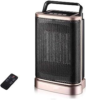 WSN Calefactor Portátil Eléctrico con termostato Ajustable y protección contra sobrecalentamiento con Control Remoto Adecuado para Oficina en el hogar 1500W