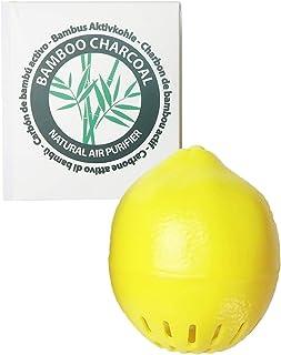 Citron Désodorisant pour Frigo au Charbon Actif de Bambou - Purificateur d'air Absorbant Odeur et Humidité   Déshumidifica...