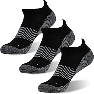 FOOTPLUS Unisex Copper Athletic Ankle Crew Running Socks 3/6 Pairs