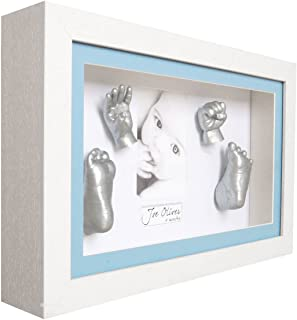 iuchoice ❤️❤️ 3D Plaster Handprint Footprint Baby Mould Hand&Foot Casting Prints Kit Cast Gift,Color:White