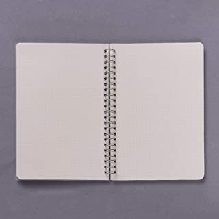 A5 Coil Notebook Spiral Notebooks with Elastic Band Dotted Pages Diary Journal Memo Office and School Supplies