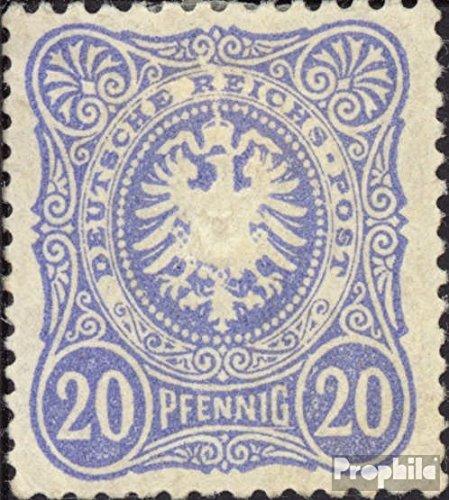 Prophila Collection Deutsches Reich 42ba geprüft 1885 Pfennig (Briefmarken für Sammler)