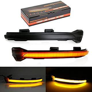 1 Pair Left + Right Side Turn Signal Mirror Assemble LED Indicator Lights For VW MK7 Golf GTI 15 OEM # 5GD949101 5GD949102
