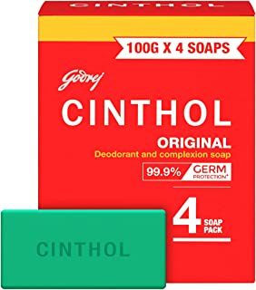 Cinthol Original Bath Soap, 100g (Pack of 4)