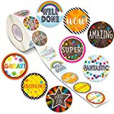 good job stickers for kids - Motivational Stickers for Kids (1 Roll, 1000 Pieces)