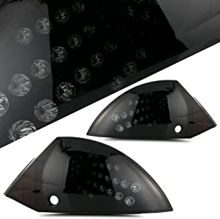 SCITOO Black Smoke LED Taillight Assembly for 2000 2001 2002 2003 2004 2005 Mitsubishi Eclipse 5 Rear Light Replacement