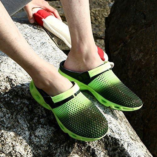 FUWUX Flip Flops für Sommerfrauen Halber Drag Beach Student Casual Baotou (Farbe   Dark Grün, Größe   7.5 US 38 EU 5 UK)
