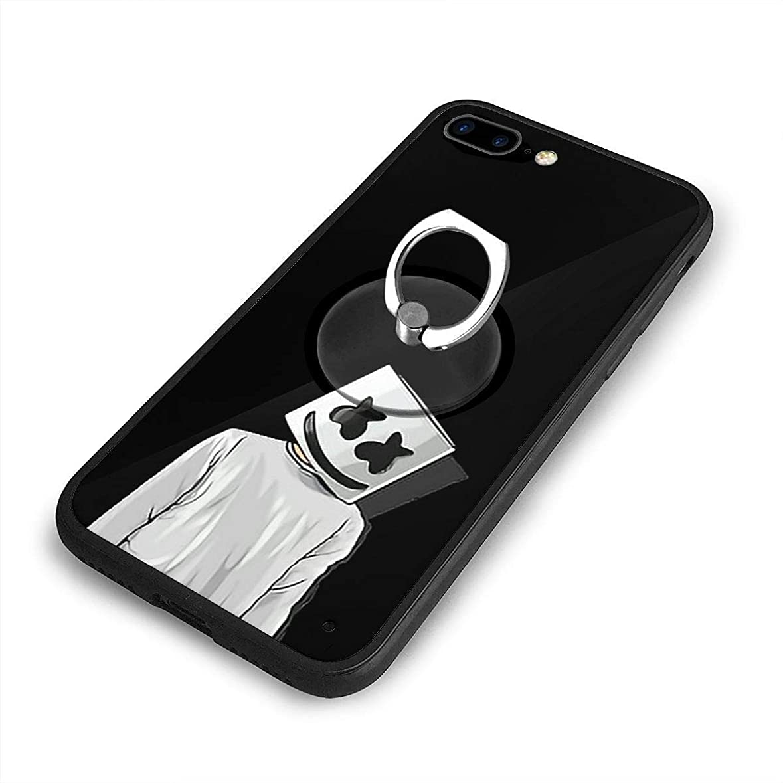 ショルダー不十分連結するMarshmello MarshmelloiPhone 7/8 Plusケースリングブラケット 携帯カバー 創意デザイン軽量 傷つけ防止 360°回転ブラケット 携帯ケース PC 衝撃防止 全面保護