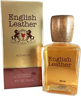 Dana English Leather Authentic Eau de Cologne Splash for Men, 8 Ounce