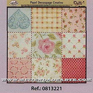 Multicolor Dayka Trade Papel decoupage 30 x 30 cm