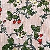 Stoff Meterware Baumwolle Musselin Mulltuch rosa Erdbeeren