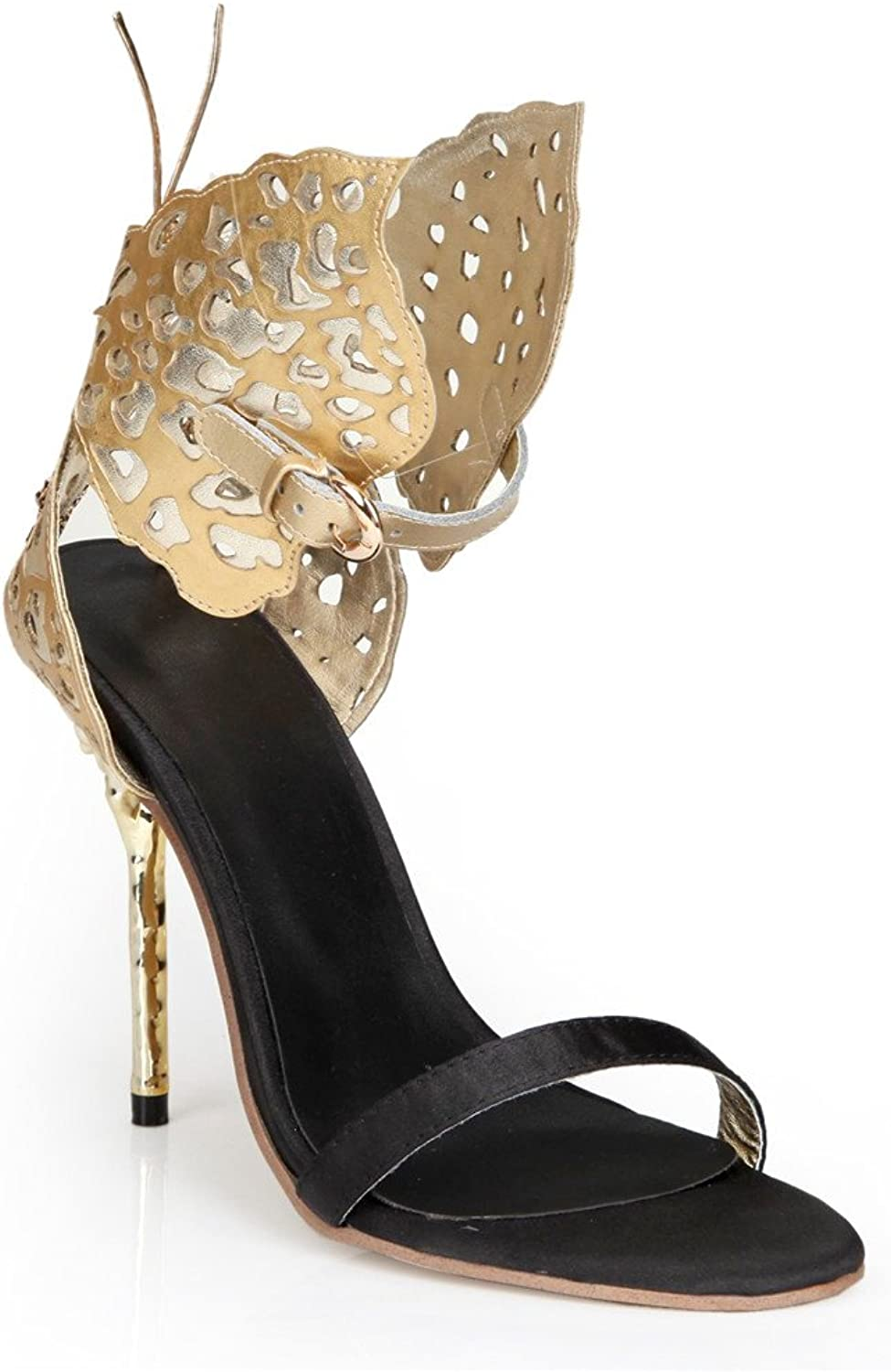 Tsbridal Sexy Sandals Women High Heels Pumps With gold Butterfly