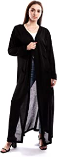 Andora Solid Long Cardigan With Two Pockts And Slits
