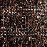 Mosaico de Vidrio en Malla DEC-74291AXU003, Marrón, 4...