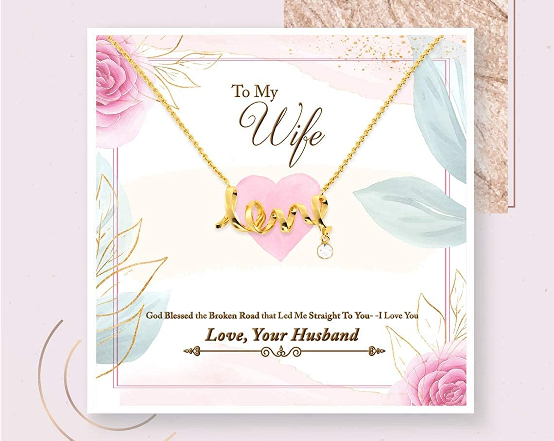 iWow Customized Wife Gift Jewelry Necklace Gold Wi Bombing new work online shop for