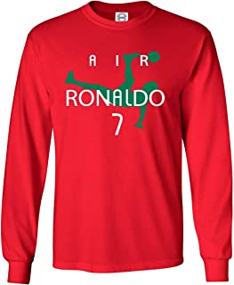 Long Sleeve Cristiano Ronaldo Ronaldo Portugal Red T-Shirt