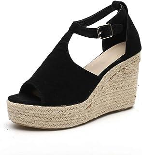 85c84136 Fannyfuny_Sandalias Mujer Zapatos Tacon Mujer Cuña Zapatillas de Cuña para  Mujeres Zapatillas Casuales Altas Primavera Verano