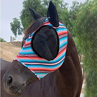 Professional's Choice Sports Medicine Products Comfort Fly Lycra Mask Horse Face Mask Horse Santiago