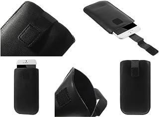 DFV mobile - Leather Pouch Case Pocket Sleeve Bag for hisense u971 - Negro