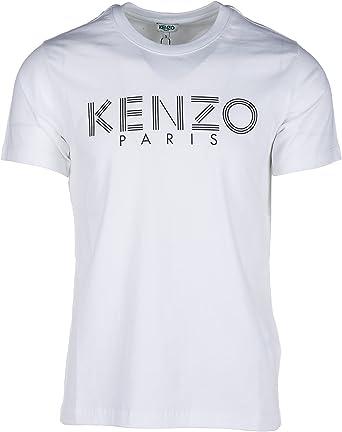 Kenzo Bianco men's short-sleeved crew neck t-shirt