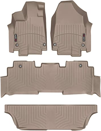 Tan WeatherTech Custom Fit Front FloorLiner for Honda Odyssey