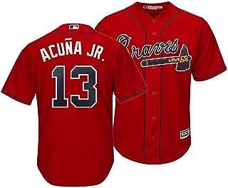 Outerstuff Ronald Acuna Jr Atlanta Braves Kids 4-7 Red Alternate Cool Base Player Jersey
