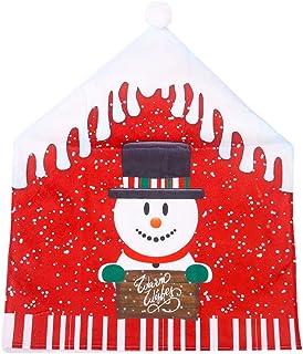 Fundas para Silla de Comedor de Navidad Fiesta Decoración navideñaFundas para Sillas Cubierta de Asiento Decoración Cena S...