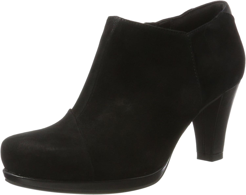 Clarks Chorus Jingle - Black Combi (Suede) Womens Boots