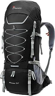 65/75L Mochila de Senderismo Impermeable Gran Capacidad Bolsa de Emergencia Mochila de Trekking con Cubierta de Lluvia para Montañismo, Acampada, Caza