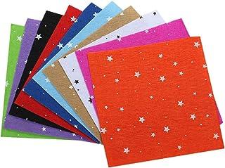 10 peças de folhas de tecido de feltro, pentagrama, TNT, mistura de lã, aplique de feltro, material de costura de patchwor...