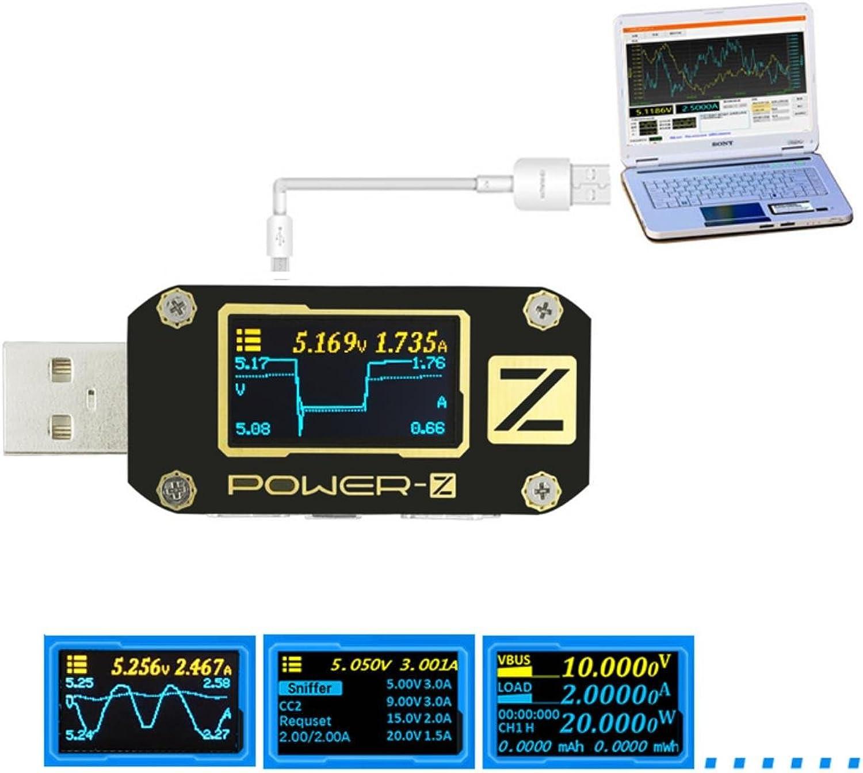 calidad oficial TuJuguete Power-Z PD 3.0 Qc 4.0 USB Tester Tester Tester Voltaje Corriente Tester Ripple Doble Tipo-C Metro  cómodo