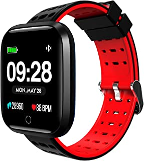 SUNNZO Bluetooth Smart Watch,Widely Compatible and Seamlessly Sync with Android & iOS,Multiple Sports Modes& Data Tracking,HD Display,Message Notification,Heart Rate Monitoring,Sleep Monitoring etc