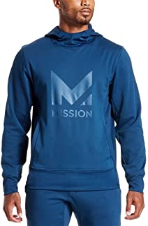Mission Men's VaporActive Gravity Pullover Hoodie, Estate Blue, XX-Large