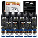 U-Pol Raptor Reflex Blue Urethane Spray-On Truck Bed Liner Kit and Custom Coat Spray Gun with Regulator, 8 Liters