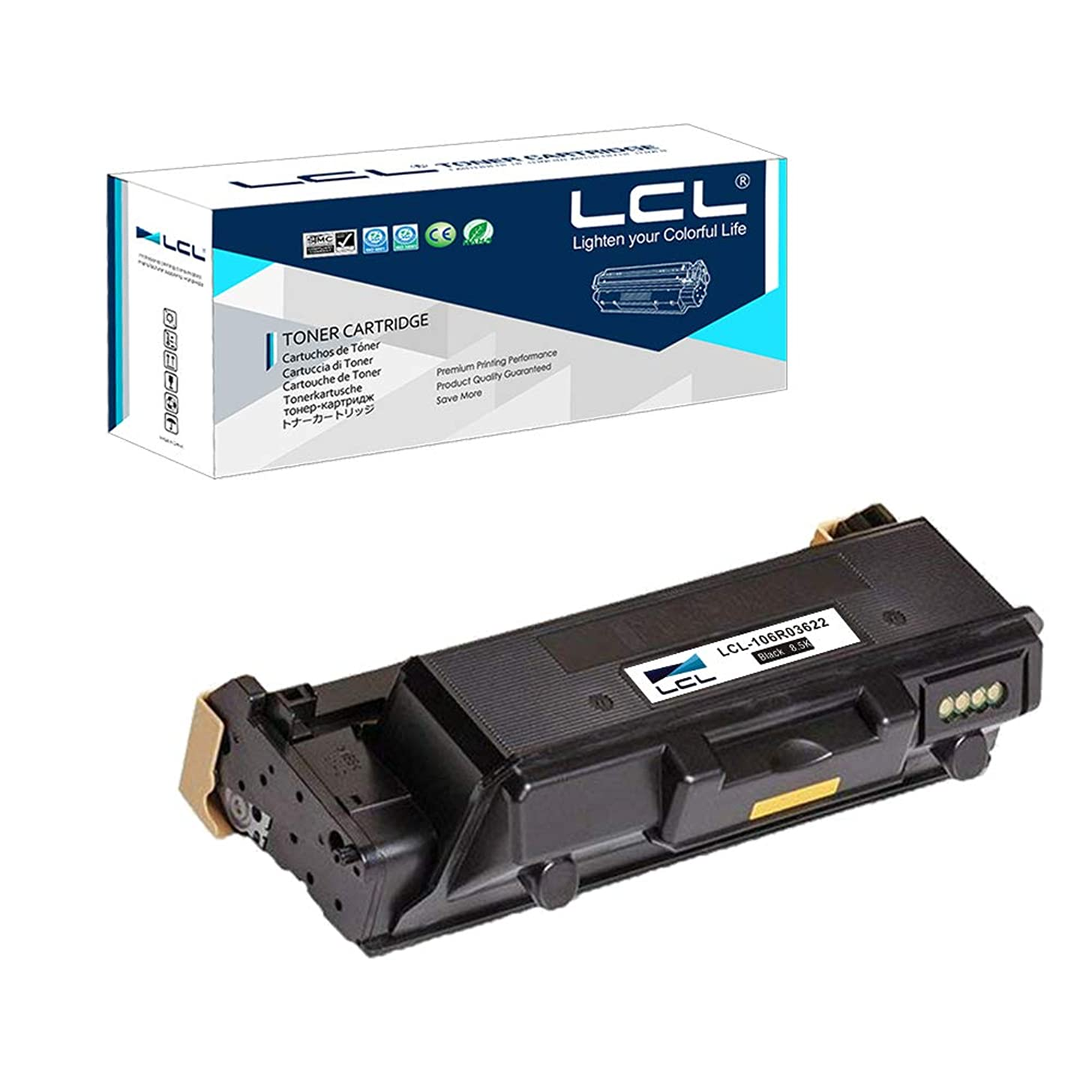 LCL Compatible Toner Cartridge Replacement for Xerox WorkCentre 3335 3345 Phaser 3330 106R03620 106R03621 106R03622 8500 Pages (1-Pack Black)
