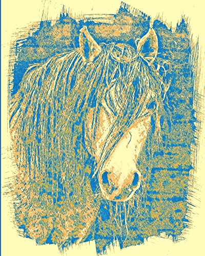 Horse Notebook: College Ruled - Lined Journal - Composition Notebook - Soft Cover Writer's Notebook or Journal for School  - College or Work - Sepia Mustang Horse