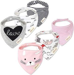 Śliniaki dla niemowląt - śliniaki dla chłopców i dziewcząt - super chłonne - czysta bawełna - bandana/śliniak z motywem kr...