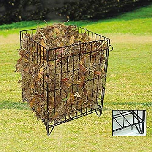RAMROXX 34183 Garten Biomüll Komposter Metall Stahlgitter pulverbeschichtet 68x48x48cm schwarz