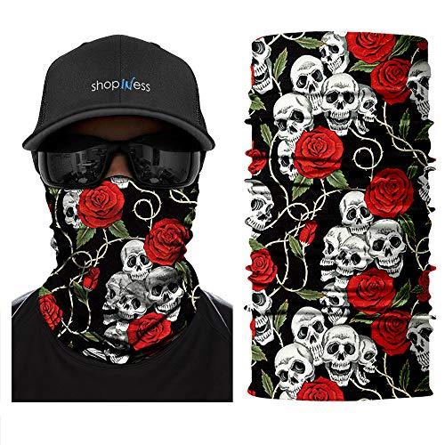 ShopINess Pañuelo Braga Multifunción - Skull Rose